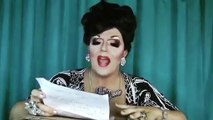 Mrs Kasha Davis trying Bianca Del Rio's remover wipes