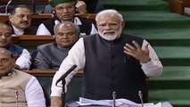 PM Modi chants a poem while speaking in Lok Sabha | Oneindia News