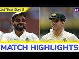 IND vs AUS 1st Test 2018 Day 5 Stats Highlights: India Takes Lead 1-0 Lead After 31-Run Victory