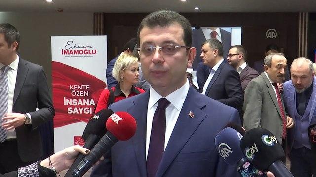 CHP'nin İstanbul Büyükşehir Belediye Başkan Adayı İmamoğlu - İSTANBUL