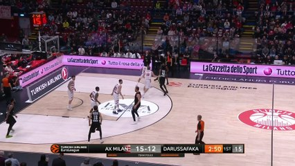 EuroLeague 2018-19 Highlights Regular Season Round 22 video: AX Milan 90-78 Darussafaka