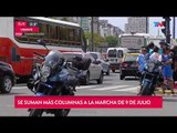Caos en la ciudad por marchas de organizaciones sociales y sindicales