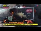 Se incendió una camioneta en Acceso Oeste