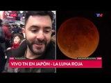 Los argentinos viendo el eclipse desde Tokio