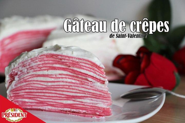 #LGDK : Gâteau de crêpes (Pour la Saint-Valentin !)