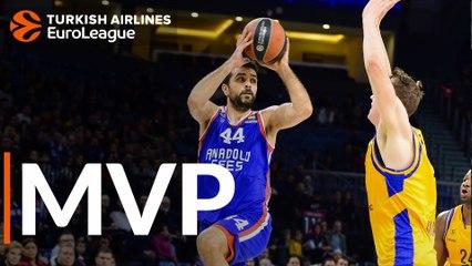 Round 22 MVP: Krunoslav Simon, Anadolu Efes Istanbul