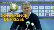 Conférence de presse Grenoble Foot 38 - FC Lorient (0-1) : Philippe  HINSCHBERGER (GF38) - Mickaël LANDREAU (FCL) - 2018/2019
