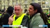 """""""Gilets jaunes """": tensions devant l'Assemblée nationale"""