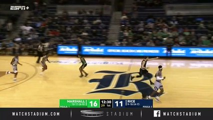 Marshall vs. Rice Basketball Highlights (2018-19)