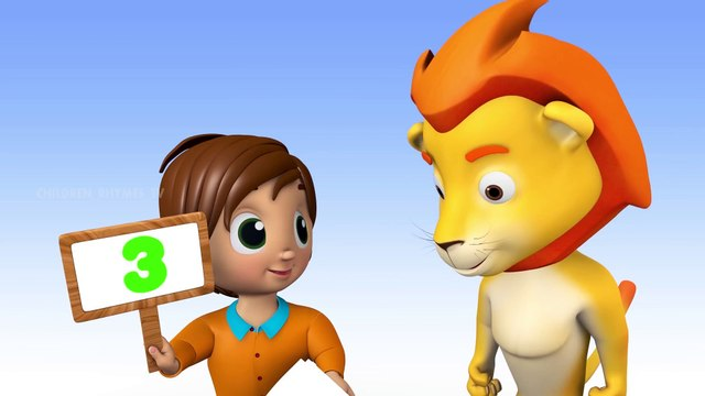 Animals Learn Numbers Nursery Rhymes Collection with Lion _ Children Rhymes Tv