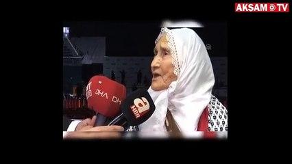 Meliha nine, Cumhurbaşkanı Erdoğan'la bir araya geldi