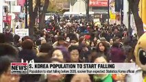 S. Korea's population expected to decline sooner than expected: Statistics Korea official