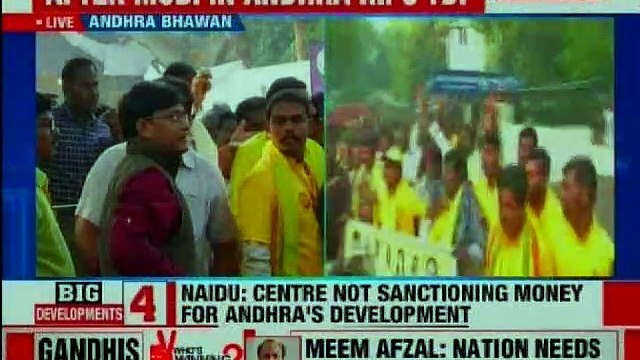Chandrababu Naidu on a daylong hunger strike for special status to Andhra Pradesh