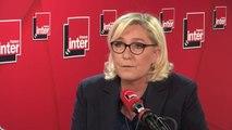 """Marine Le Pen : """"Il y a une utilisation politicienne de la diplomatie [par Emmanuel Macron] que je trouve très inquiétante"""""""
