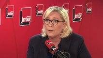 """Marine Le Pen : """"Cela fait des années que je regarde avec étonnement la complaisance du pouvoir avec les milices d'extrême-gauche"""