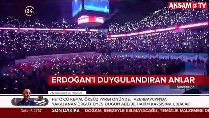 Başkan Erdoğan'ı duygulandıran anlar