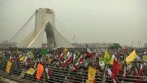 Az iráni elnök az egész világnak hadat üzent az iszlám forradalom 40  évfordulóján
