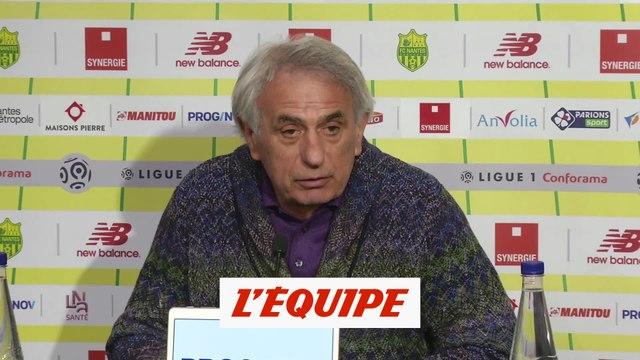 Halilhodzic «Je dois faire mon mea culpa» - Foot - L1 - Nantes