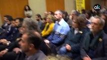 Los independentistas ven en pantalla gigante el juicio del procés