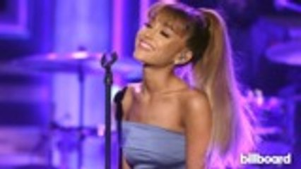 ariana grande wins best pop vocal album grammy celebrates from bed billboard news