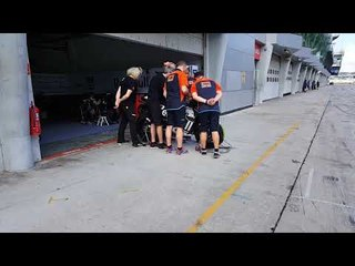 Red Bull Tech3 at the Sepang Shakedwon Test