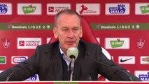 Réaction de Jean-Marc Furlan et Pablo Correa après Stade Brestois 29 - AJ Auxerre