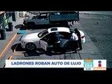 Momento exacto en el que asaltan y roban un auto de lujo | Noticias con Francisco Zea