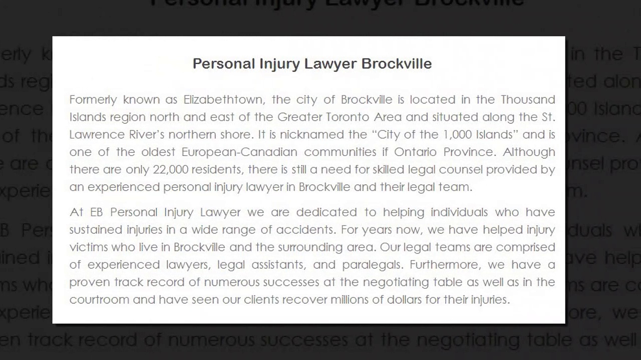 Best Stoney Creek Injury Lawyer – EB Personal Injury Lawyer (800) 289-5079