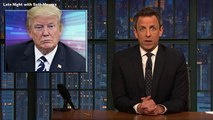 Seth Meyers Blasts Defenders Of Donald Trump's 'TRAIL' Tweet, Says President Is Both 'Dumb' And 'Racist'