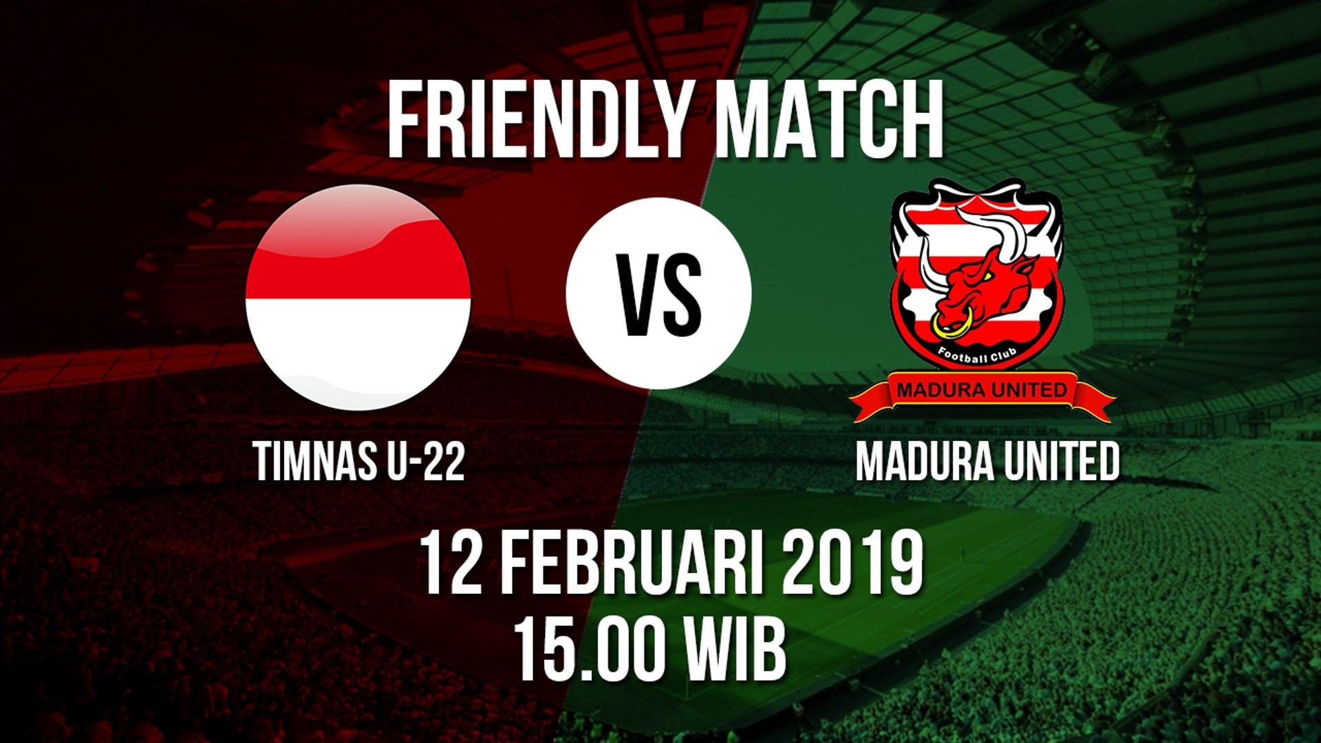 Sedang Berlangsung Timnas Indonesia U-22 Vs Madura United Pukul 15.00 WIB