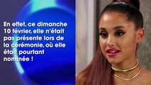 Furieuse, Ariana Grande explique les raisons de son absence aux Grammy Awards 2019