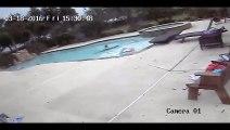 Une petite fille sauve sa maman de la noyade dans une piscine