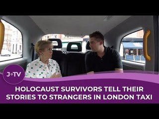 Holocaust survivors tell their stories to strangers in London taxi