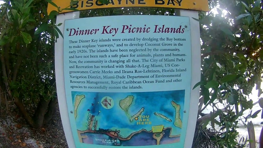 Diner key and Seminole boat ramp  in Coconut grove