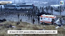 At least 40 Jawans killed in suicide attack on CRPF Convoy in J&K