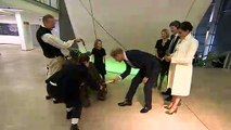 The Duke and Duchess of Sussex presented with gift by 'giant tortoise'