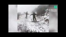 À Hawaï, ce parc national a été recouvert de neige pour la première fois