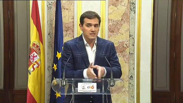 """Rivera pide elecciones ya y no descarta nada sobre pactos con tal de """"echar a Sánchez"""""""