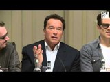 Arnold Schwarzenegger & Jaimie Alexander Interview - CGI Action - The Last Stand Press Conference