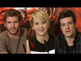 Hunger Games Catching Fire Premiere - Jennifer Lawrence, Liam Hemsworth & Josh Hutcherson Interviews