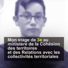Mon stage de 3ème au ministère : Alexandre, élève du collège Pierre Mendès France 20e