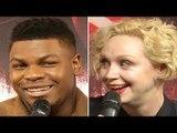 John Boyega & Qwendoline Christie On Finn vs Phasma Fight