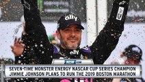 NASCAR Great, Jimmie Johnson Plans To Run 2019 Boston Marathon