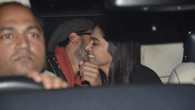 Deepika Padukone joins Ranveer and Alia at the Gully Boy screening