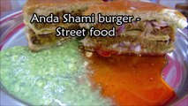 Anda Shami Burger Recipe - Shami Burger Food Street Recipe - Simple and Easy Burger Recipe