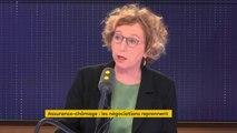 """""""La précarité coûte très cher socialement, mais aussi économiquement, car c'est 8 milliards de déficit à l'assurance chômage"""", déclare Muriel Pénicaud, ministre du Travail"""