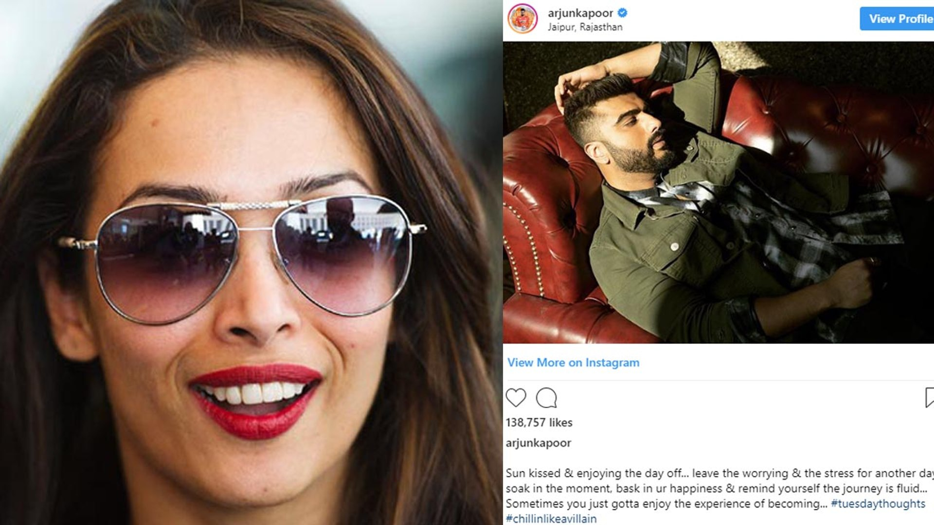 Malaika Arora's comment on Arjun Kapoor's Letest  picture | FilmiBeat