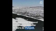Hawai: Le parc Polipoli recouvert par la neige