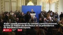 Alain Juppé, nommé au conseil constitutionnel, quitte la mairie de Bordeaux et la présidence de Bordeaux Métropole.