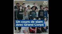 Un cours de slam avec Grand Corps Malade